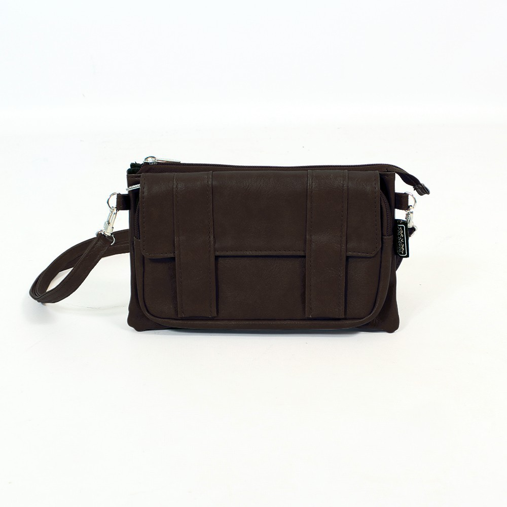 \'\'Amiya\'\' 2in1 purse/waist bag, Dark brown