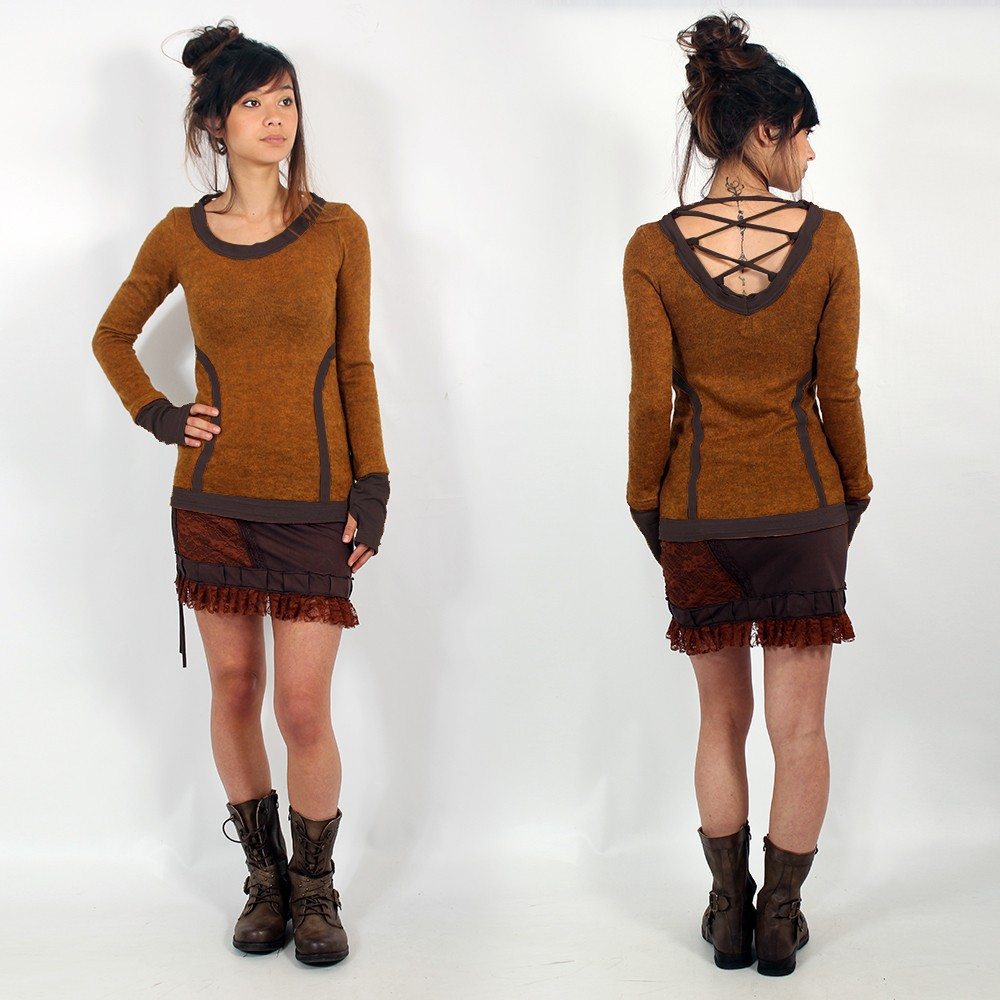 \\\'\\\'Anaë\\\'\\\' pullover, Rusty and brown