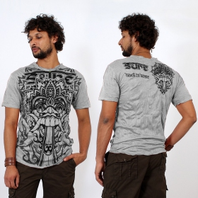 \\\'\\\'Bali dragon\\\'\\\' t-shirt, Light grey