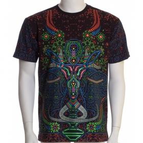 \'\'Brain challenger\'\' UV t-shirt, Black