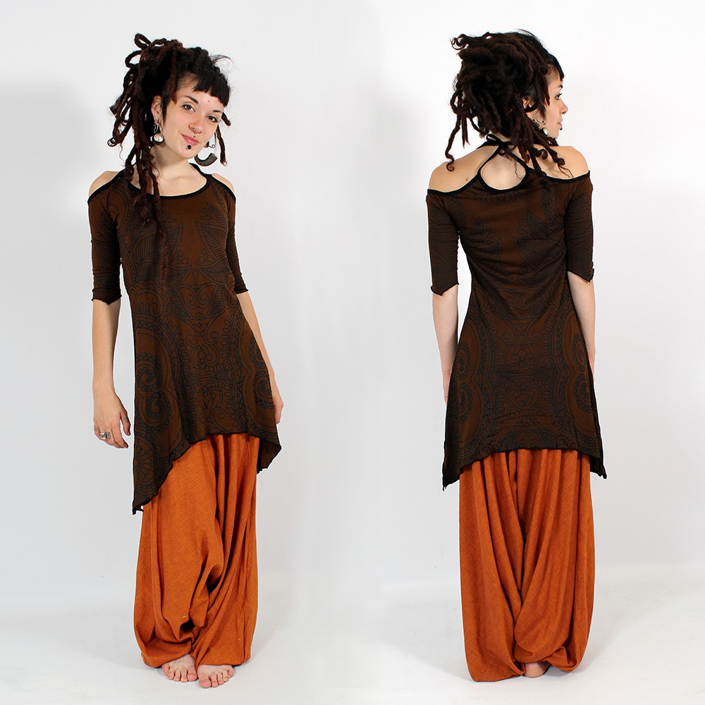\\\'\\\'Chewa\\\'\\\' harem pants, Orange