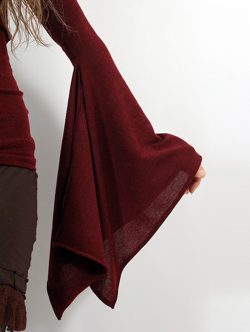 \'\'Eo-Kimö\'\' pullover top, Wine and black