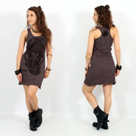 \\\'\\\'Ganesh Face\\\'\\\' dress, Dark purple