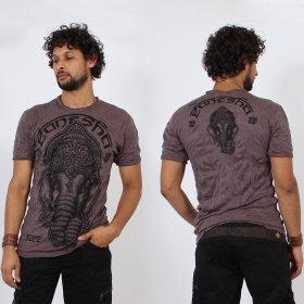 \\\'\\\'Ganesh face\\\'\\\' t-shirt, Purple