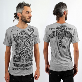\\\'\\\'Ganesh Tribal\\\'\\\' T-shirt, Light grey