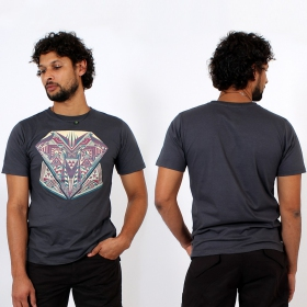 \'\'Geometric\'\' t-shirt, Grey