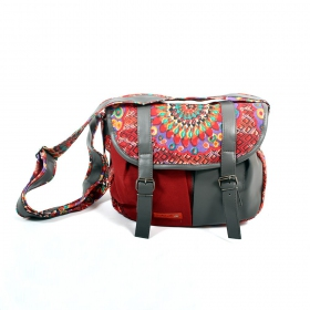 \\\'\\\'Kanika\\\'\\\' bag, Grey and red