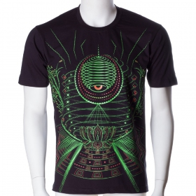 \'\'Lotus\'\' UV t-shirt, Black