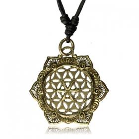 \'\'Lotus Fleur de vie\'\' necklace