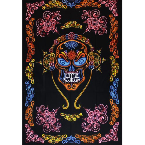 \'\'Mexican Skull\'\' hanging, Multicolor