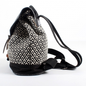 \'\'Niraja\'\' backpack black and white