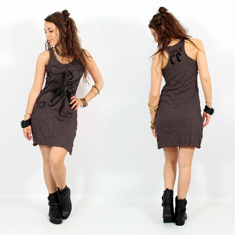 \\\'\\\'Octopus\\\'\\\' dress, Dark purple