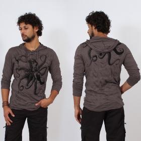 \\\'\\\'Octopus\\\'\\\' hooded t-shirt, Dark purple