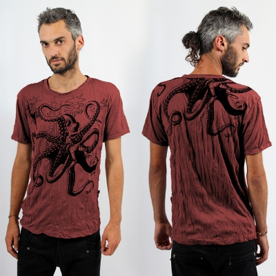 \\\'\\\'Octopus\\\'\\\' t-shirt Dark Red