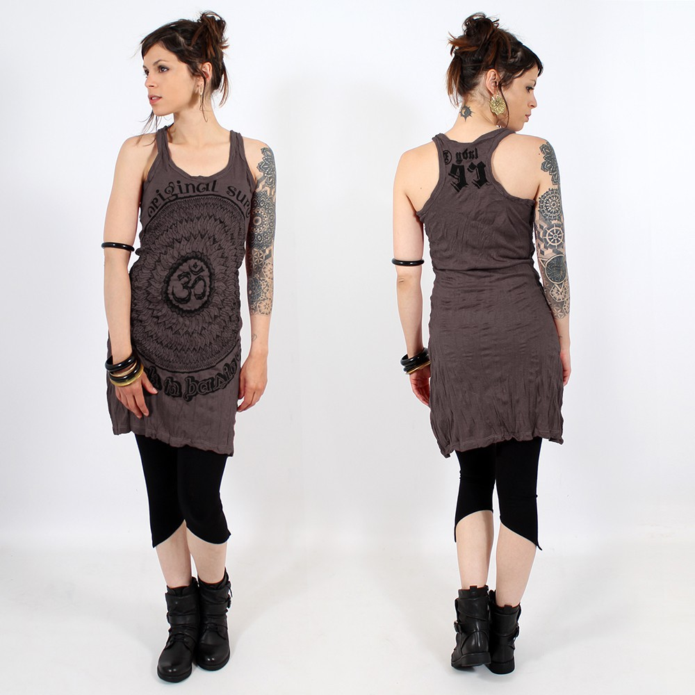 \\\'\\\'Ohm Mandala\\\'\\\' dress, Dark purple