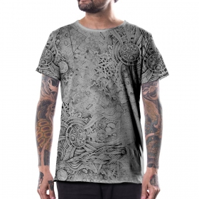 \\\'\\\'Overtones\\\'\\\' t-shirt, Light grey