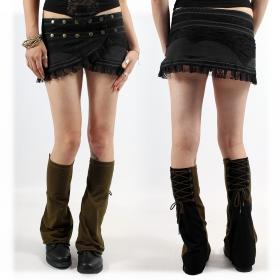 "Minifalda ""Wrap Amrita"", Negro"