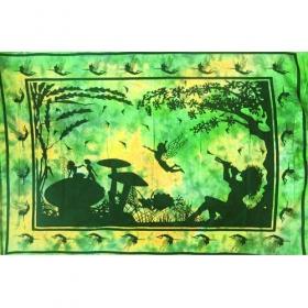 """Flute Girl"" hanging, Green"