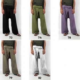 "Pantalones anchos unisex ""Thaï"", en muchos colores"