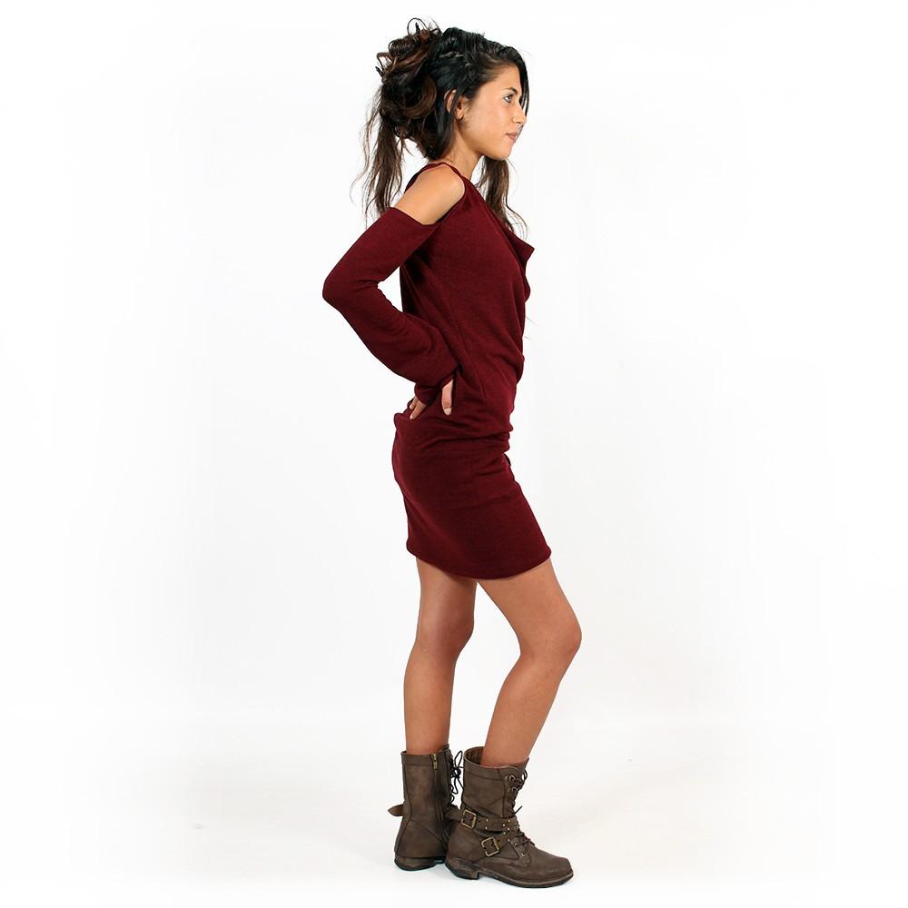 """Vestido suéter """"Elixir"""", Burdeos"""