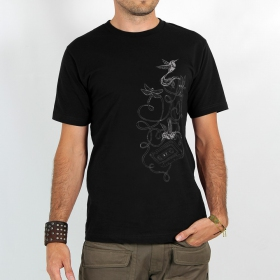 """Camiseta """"Colibrí cinta"""", Negro"""
