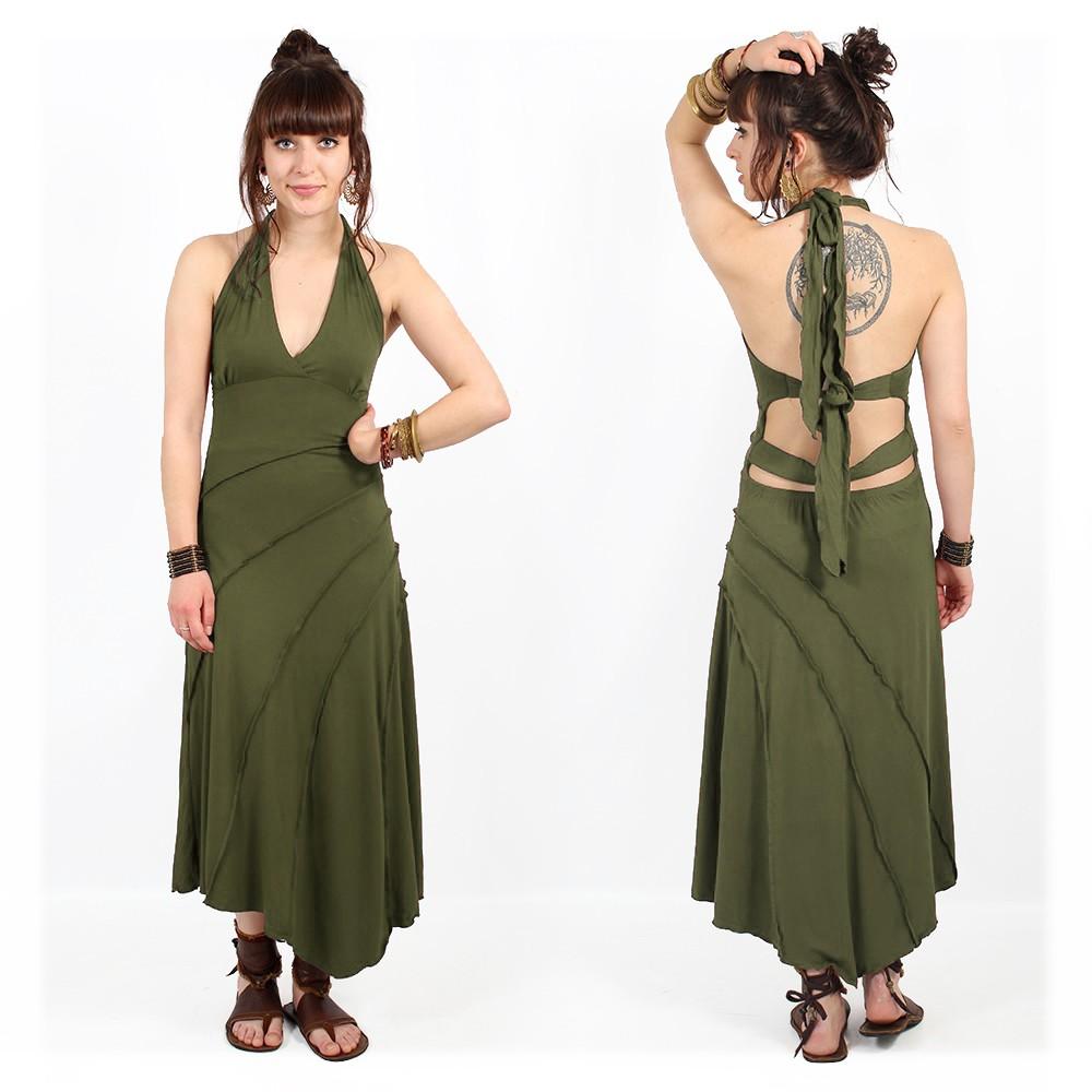 """Vestido """"Kaylah, Verde caqui"""