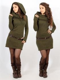 """Vestido suéter """"Mantra"""", Verde oliva"""