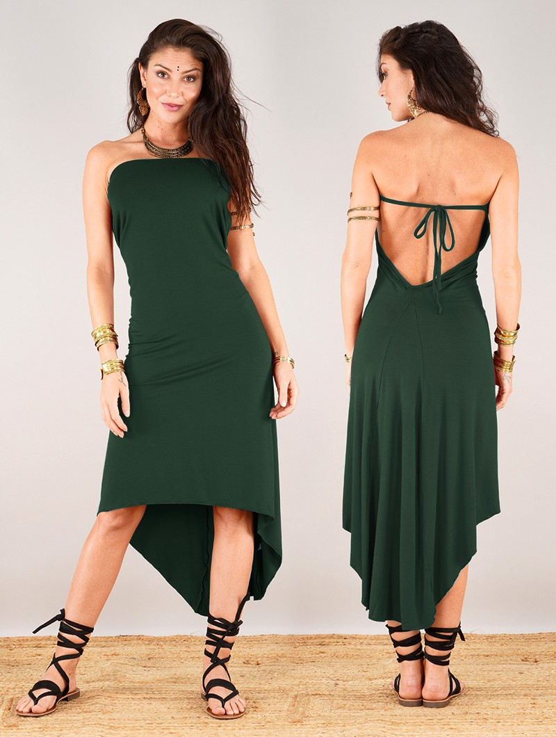 """Vestido """"Trisha"""", Verde bosque"""