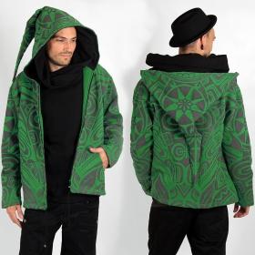 """Chaqueta con capucha tipo gnomo GadoGado """"Heifara"""", verde"""