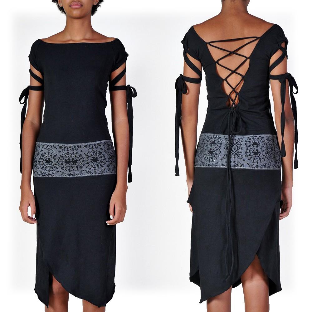 "Vestido largo ""Monroe Remix"", Negro"