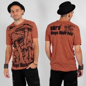 "Camiseta ""Magic mushroom"", naranja"