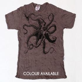 "Camiseta ""Octopus"", Marrón"