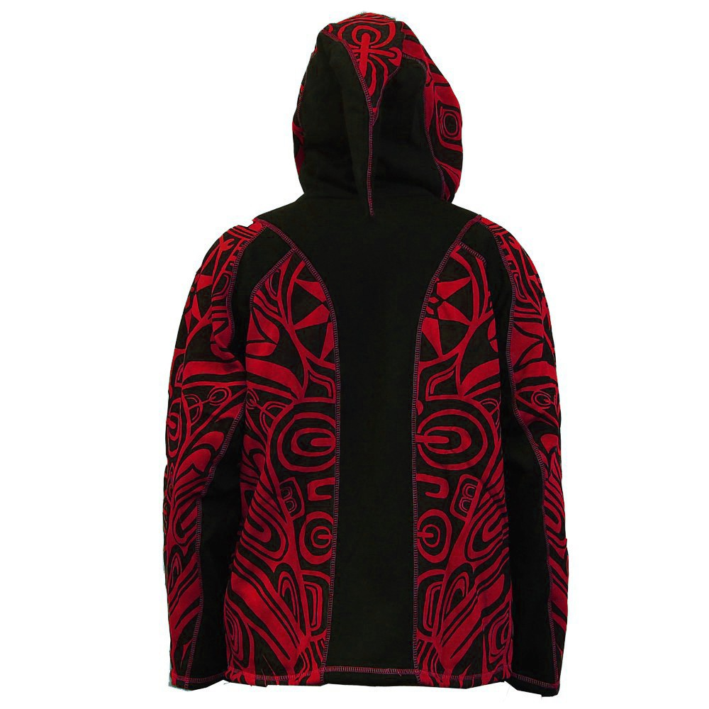 "Chaqueta con capucha puntiaguda ""Skywalker Haida"", roja"