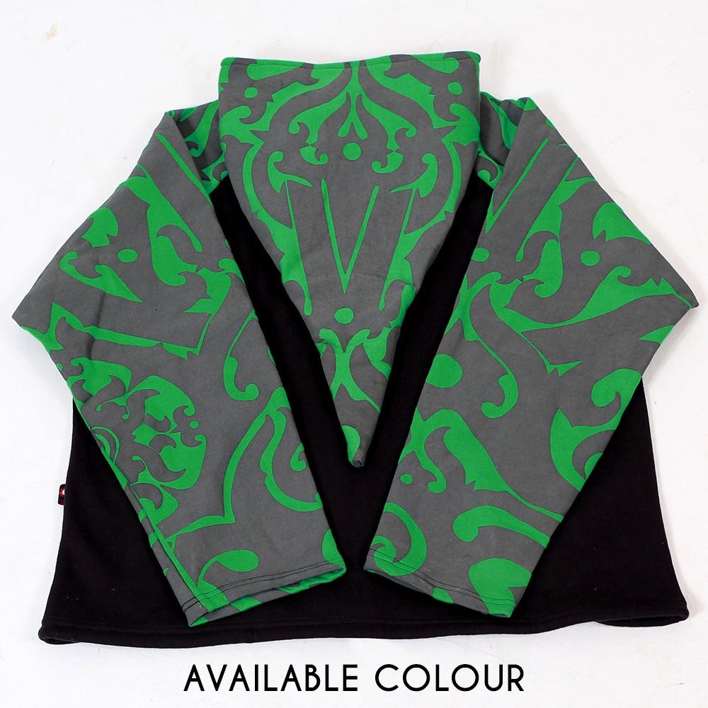 """Chaqueta con capucha puntiaguda """"Anapa Iban Borneo"""", Verde y negra"""
