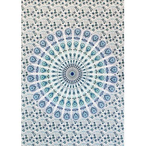 """Tapiz de tela mini """"Badmeri 05"""", blanco y azul"""