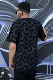 """Camiseta """"Rubber"""", Negro"""