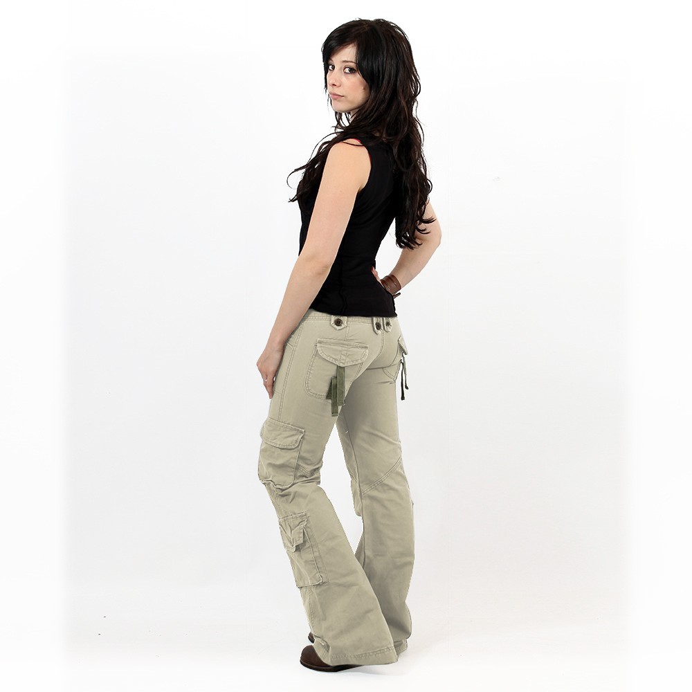 Pantalones Molecule 45062, Beige