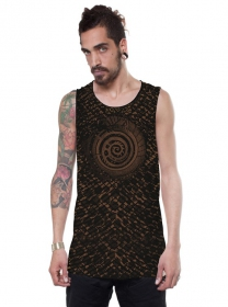 "Camiseta sin mangas ""All over Serpent"", Negro"