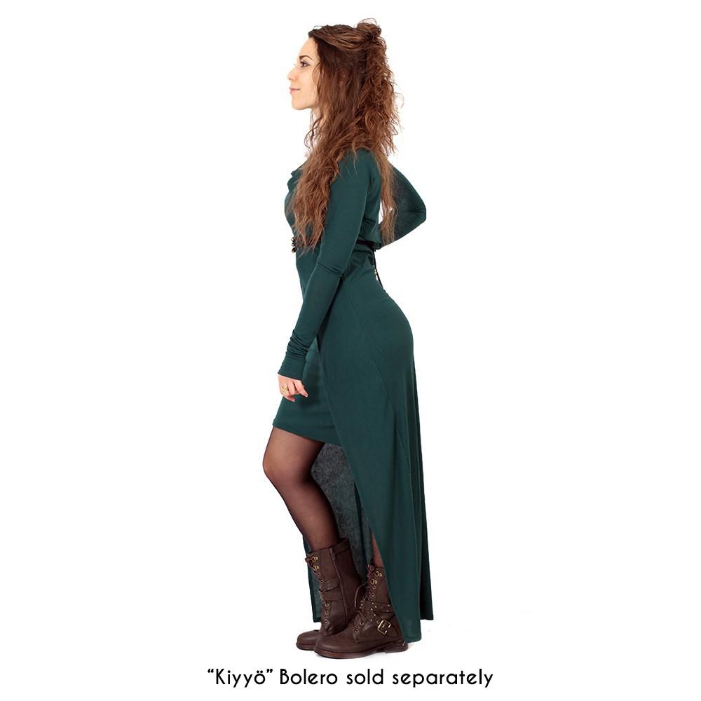 "Vestido largo ""Azeälya"", Verde pato"