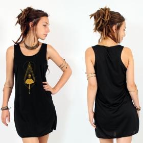 "Vestido ""Nature spirit"", Negro y oro"