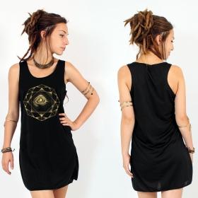 """Vestido """"Dharana"""", Negro y oro"""