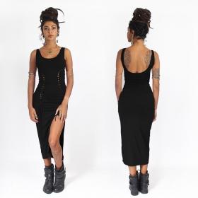 vestido midi sexy negro liloo angelina