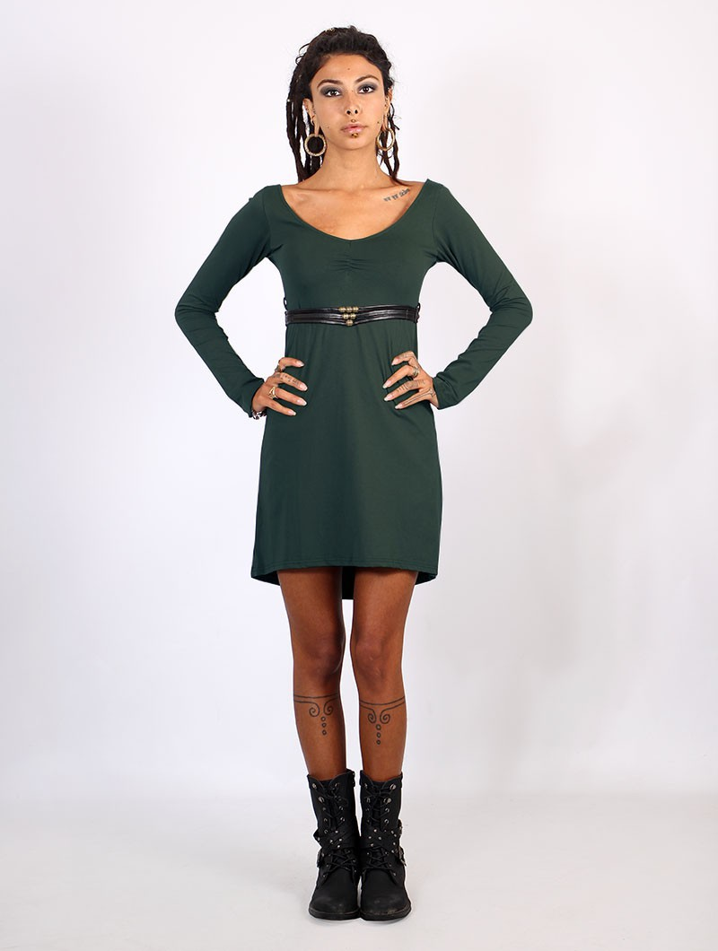 "Vestido ""Mystic"", Verde pato"