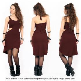 "Vestido corto ""Sheherazade"", Burdeos"