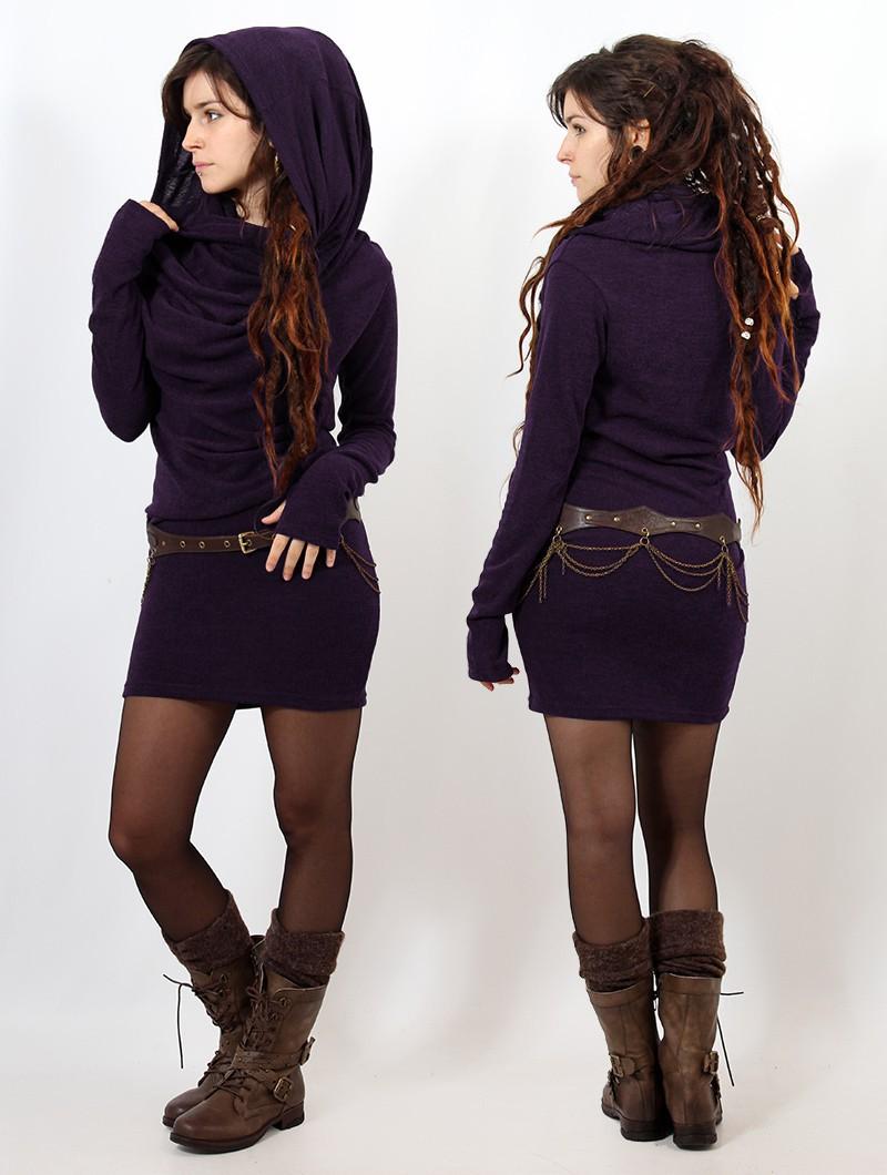 """Vestido suéter """"Kali"""", Morado"""