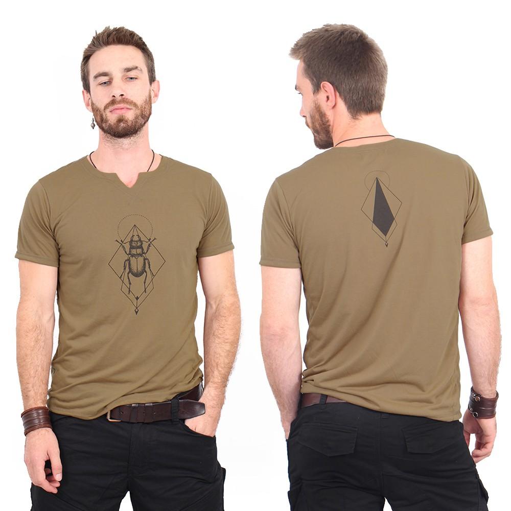 """Camiseta """"Scarabt spirit"""", Marrón y negro"""