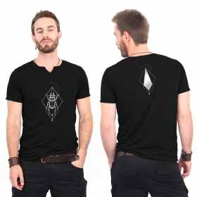 "Camiseta ""Scarabt spirit"", Negro y plateado"
