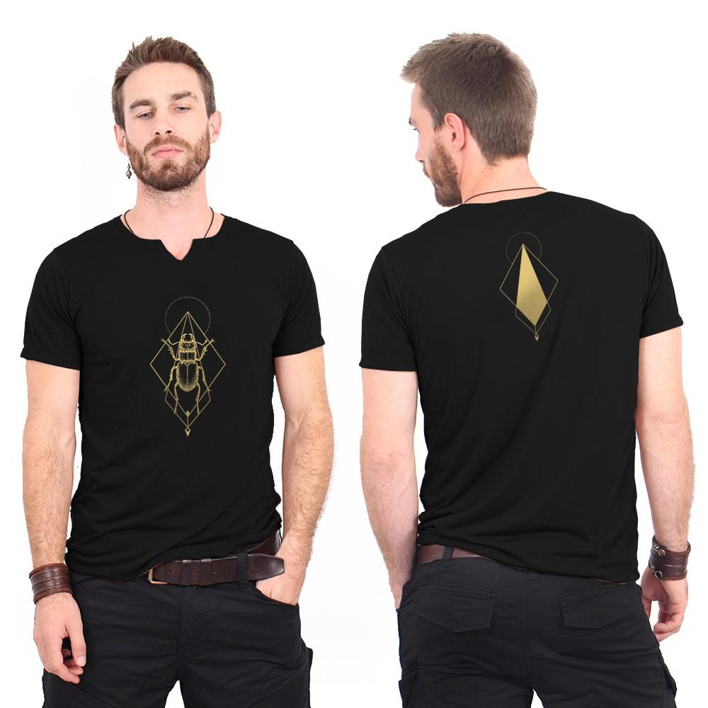 "Camiseta ""Scarabt spirit"", Negro y dorado"