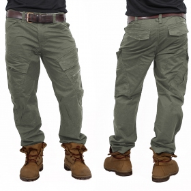 "Pantalones ""Adven"", Verde caqui"
