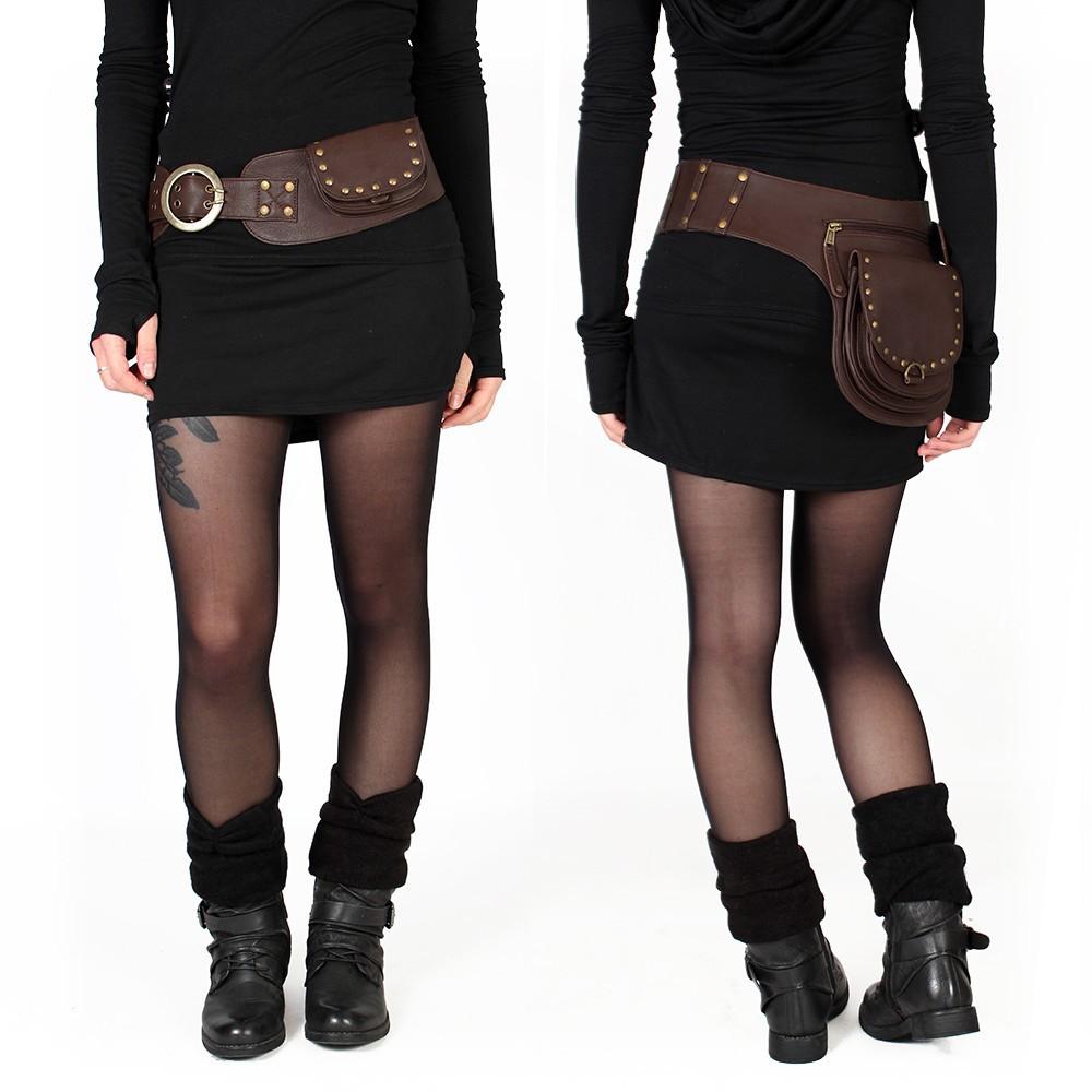 """Cintura con bolsillo """"Ishtar"""", Cuero marrón"""